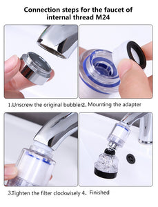 360 Rotating Splash proof Water  Faucet with Filter