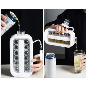Portable Ice Ball Maker with handle