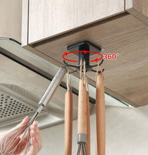 Load image into Gallery viewer, Kitchen cabinet rotating hook organizer