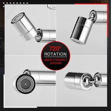 Load image into Gallery viewer, 720 degree Rotating Splash proof stainless steel Water Faucet with inbuilt filter
