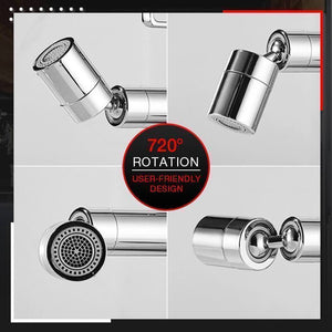 720 degree Rotating Splash proof stainless steel Water Faucet with inbuilt filter
