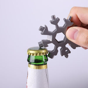 18-in-1 Multi-purpose Stainless Steel Snowflake Gadget tool