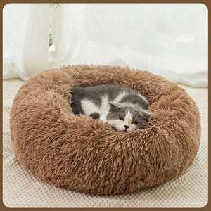 Pet Fluffy Round Bed Washable