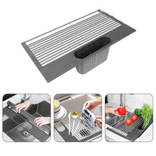 Load image into Gallery viewer, Roll-up Dish Drying Rack Multi-Use