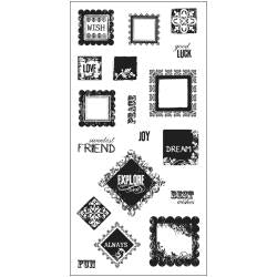 "Fiskars Clear Stamps 8""X4"" Squarely Sentimental"