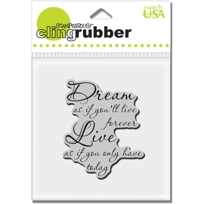 Stampendous Cling Stamp Dream Forever