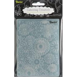 "Embossing Folder 4.25""X5.75"" Flower Frenzy Background"