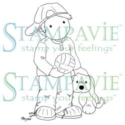 Stampavie Penny Johnson Clear Stamp Playtime, 3.625""