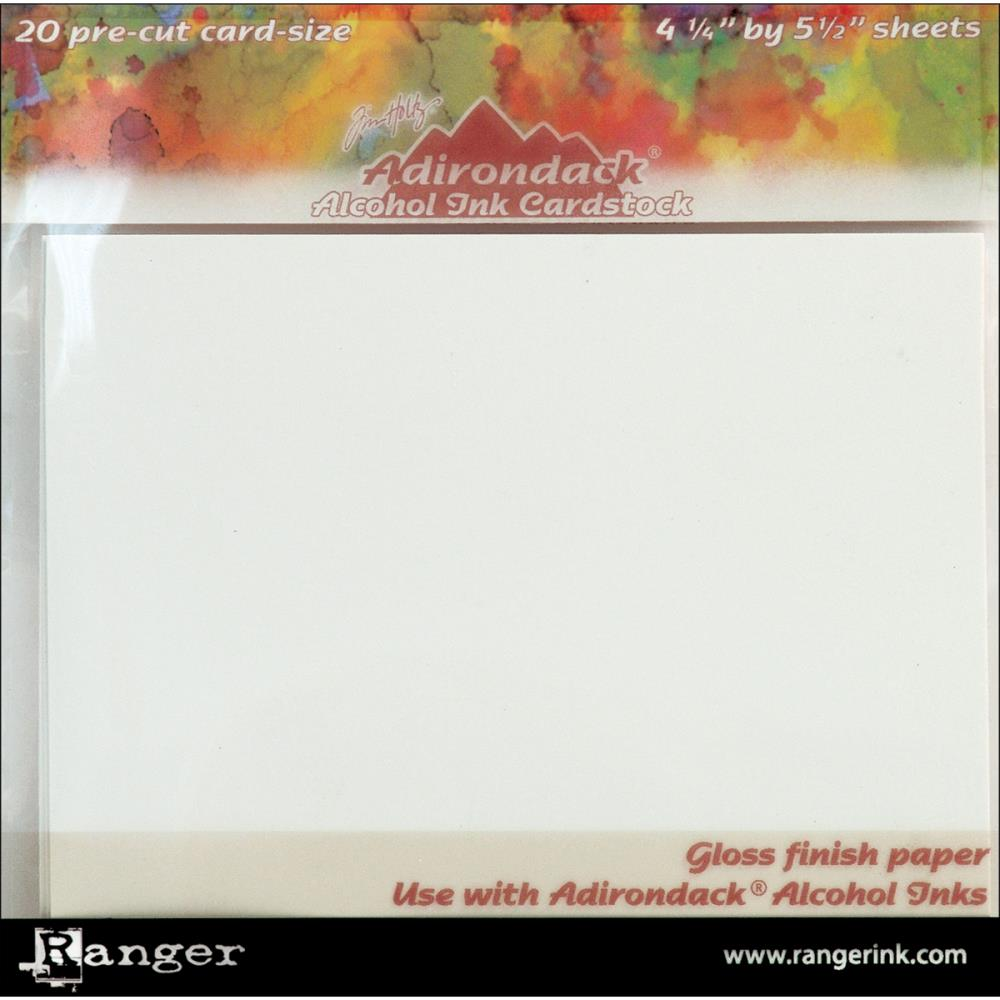 "Adirondack Alcohol Ink Cardstock By Tim Holtz 20/Pkg 4.25""X5.5"""