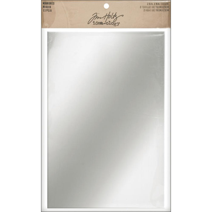 "Idea-Ology Adhesive Mirrored Sheets 6""X9"" 2/Pkg"