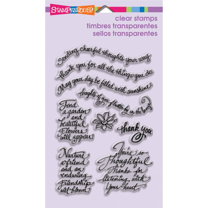 Stampendous Perfectly Clear Stamps Thoughtful Wishes
