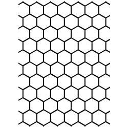 "Embossing Folder 4.25""X5.75"" Honeycomb"