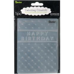 "Embossing Folder 4.25""X5.75"" Happy Birthday"