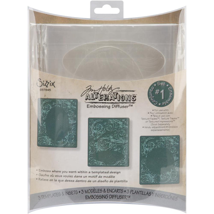 Sizzix Embossing Diffuser 657945 Oval & circle