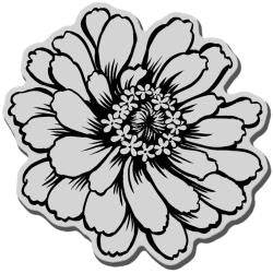Stampendous  Cling Zinnia