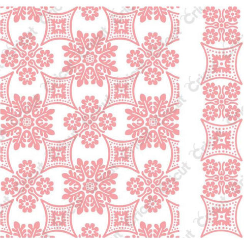 Cuttlebug embossing folder Foulard By Anna Griffin