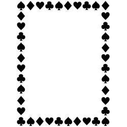 "Embossing Folder 4.25""X5.75"" Card Suites"