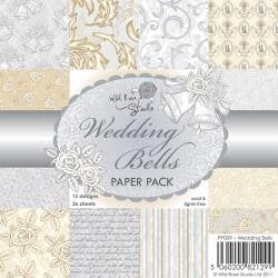 "Wild Rose Studio Ltd. Single-Sided Paper Pack 6""X6"" 36/Pkg Wedding Bells"