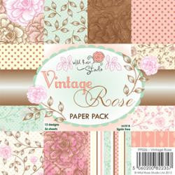 "Wild Rose Studio Ltd. Single-Sided Paper Pack 6""X6"" 36/Pkg Vintage Rose"