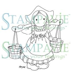 Stampavie Penny Johnson Clear Stamp Milkmaid, 3.5""