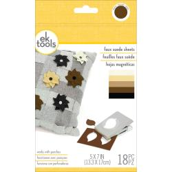 Ek Tools Faux Suede Sheets 5x7in