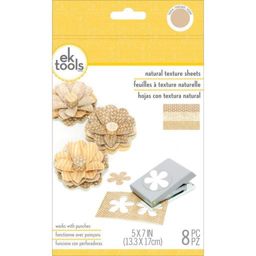 EK Success Natural Texture Sheets 8/Pkg