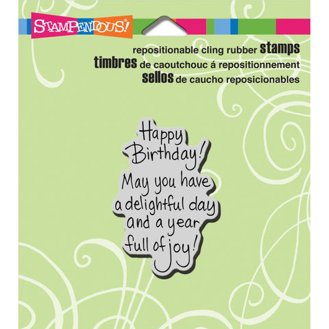 Stampendous Cling Stamp Delightful Birthday