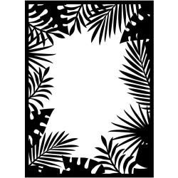 "Embossing Folder 4.25""X5.75"" Jungle Border"