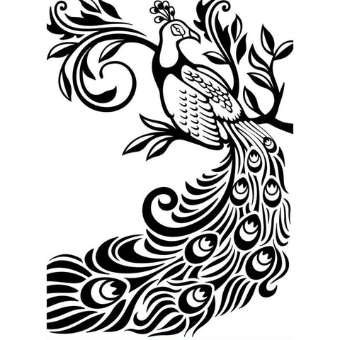 Darice Embossing folder Peacock