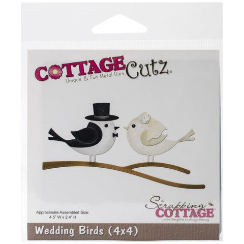 CottageCutz Die CC4x4-572 Wedding Birds