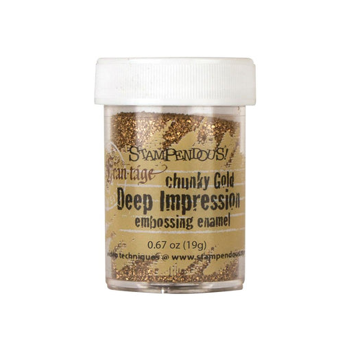 Stampendous Frantage Deep Impression Embossing Enamel .67oz Chunky Gold