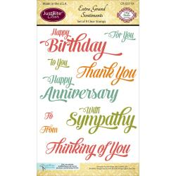 "JustRite Papercraft Clear Stamps 4""X6"" Extra Grand Sentiments"