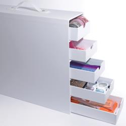 Totally-Tiffany Stash And Store 5-Drawer Case White