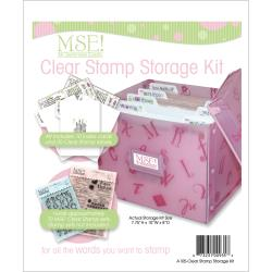 M S E Clear Stamp Storage Kit