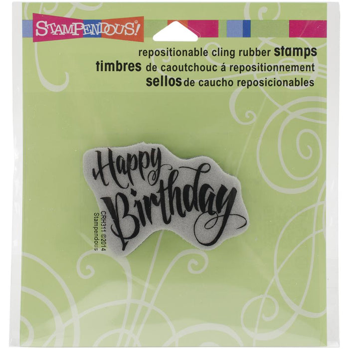 Stampendous Cling Stamp Penned Birthday