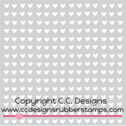 C.C Designs Stencil Mini Hearts