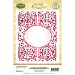 "JustRite Papercraft Cling Background Stamp 4.5""X5.75"" Ornamental"
