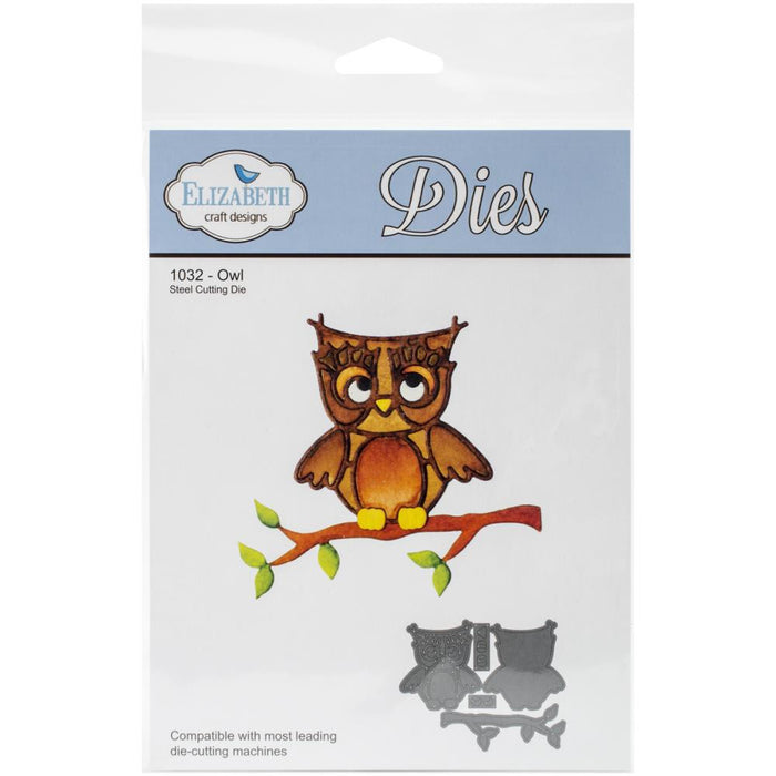 Elizabeth Craft Metal Die Owl 1032