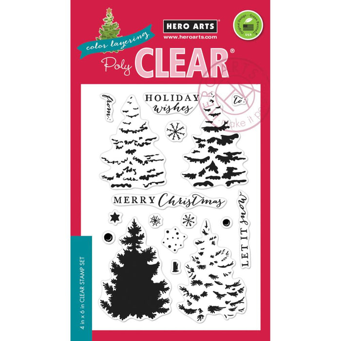 "Hero Arts Clear Stamps 4""X6"" Color Layering Christmas Tree"