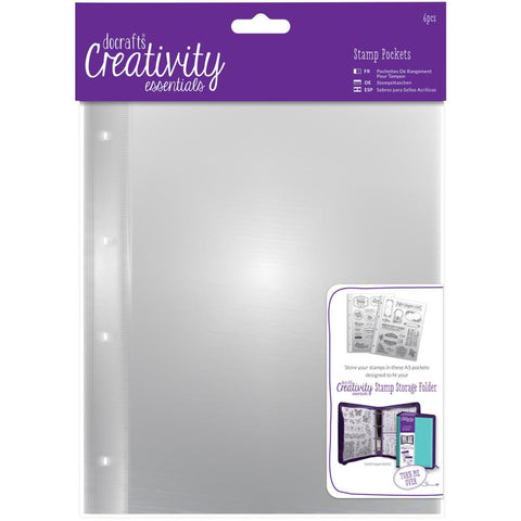 Creativity Essentials A5 Stamp Pockets 6/Pkg