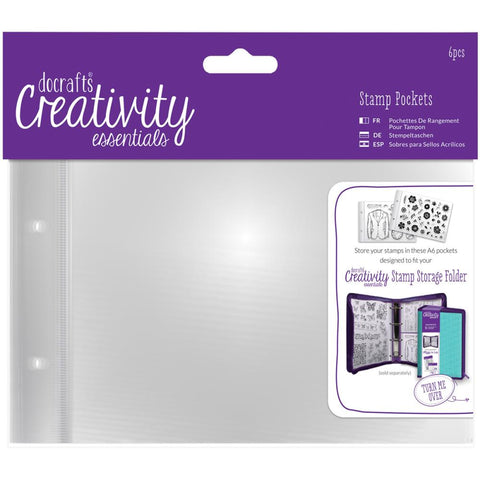 Creativity Essentials A6 Stamp Pockets 6/Pkg