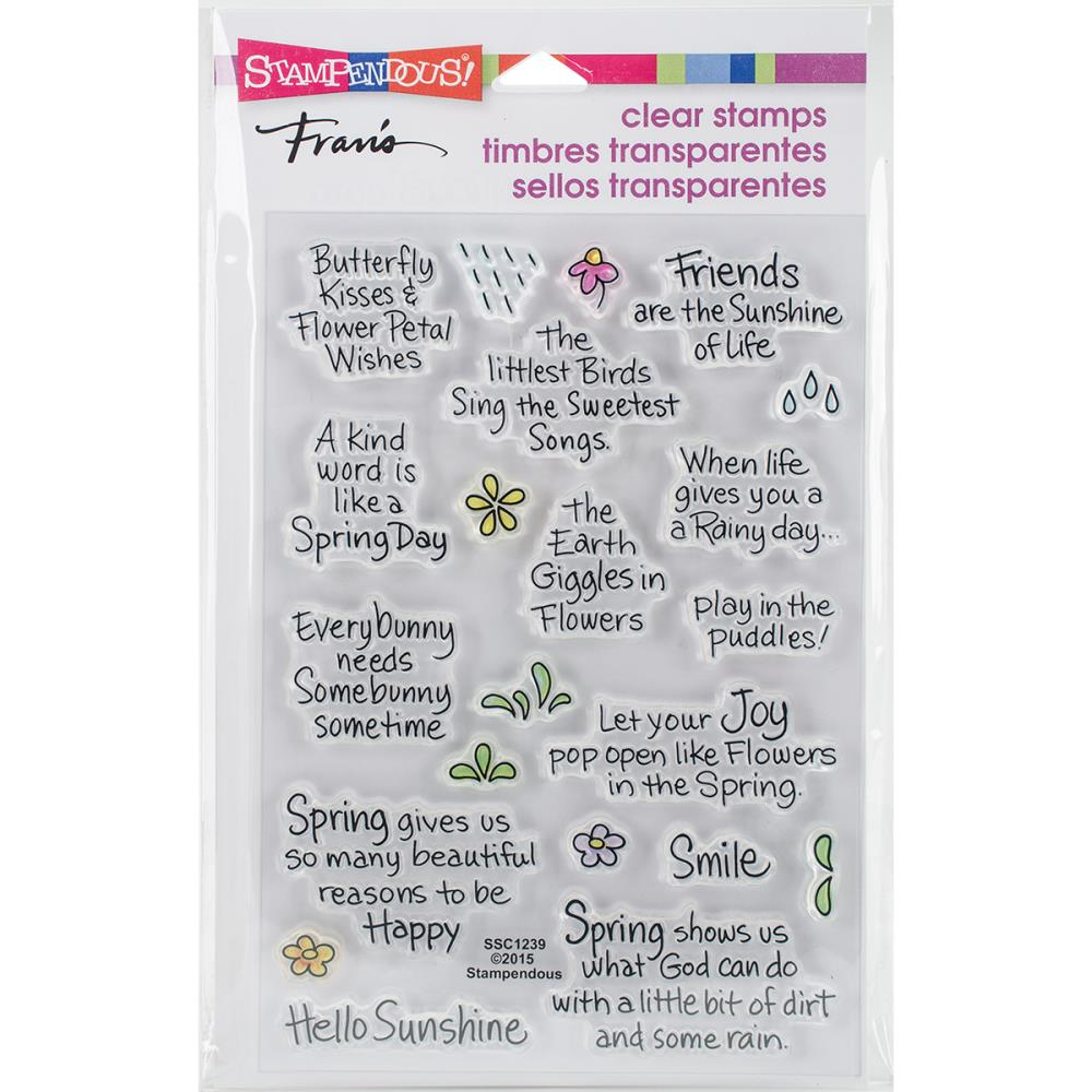 Stampendous Perfectly Clear Stamps Spring Sentiments