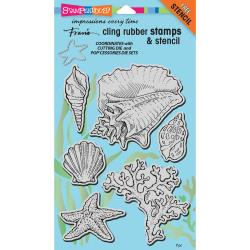 Stampendous Cling Stamp Seashells CRS5090