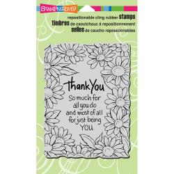 Stampendous Cling Stamp Thank You Daisies