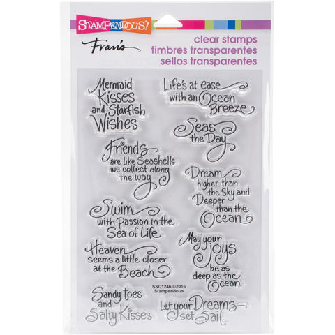 Stampendous Perfectly Clear Stamps Ocean Wisdom