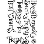 "Crafty Individuals Unmounted Rubber Stamp 3.75""X5.5"" Pkg Everyday Curly Words"