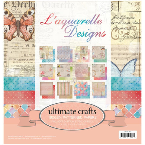 "Ultimate Crafts Double-Sided Paper Pad 12""X12"" 24/Pkg"