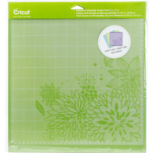 "Cricut Adhesive Back Cutting Mats 12""X12"" 3/Pkg Green, Blue & Purple"