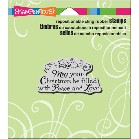 Stampendous Cling Stamp Filled With Love