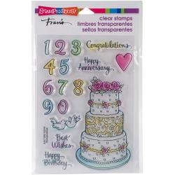 Stampendous Perfectly Clear Stamps Cake Tiers